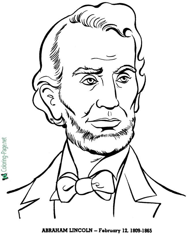 Us Presidents Coloring Pages In 2020 Abraham Lincoln For Kids