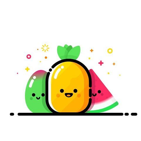 #watermelon #summer #fruits #pineapple  #sunset #sun #behance #sunshine #ux ui…