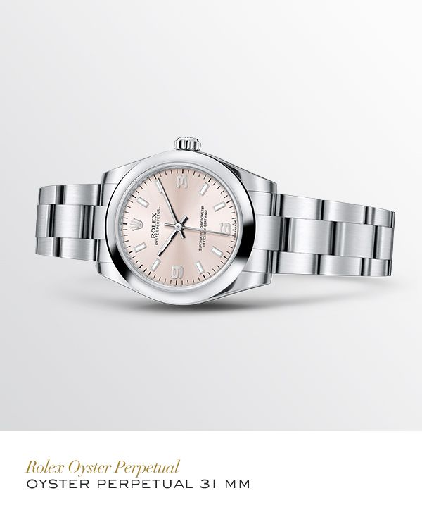 Rolex Oyster Perpetual 31 mm in 904L Steel with a Pink dial and Oyster bracelet #Golf #RolexOfficial