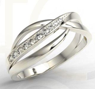 Pierścionek z białego złota z cyrkoniami/ Ring made from white gold with zircons/ 565 PLN #ring #whitegold #jewellery #gift