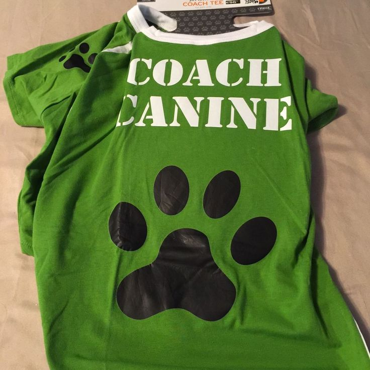 Dog Tee Football Game Here Pet Dog Costume Large Up To 90 Ibs Green White #Unbranded