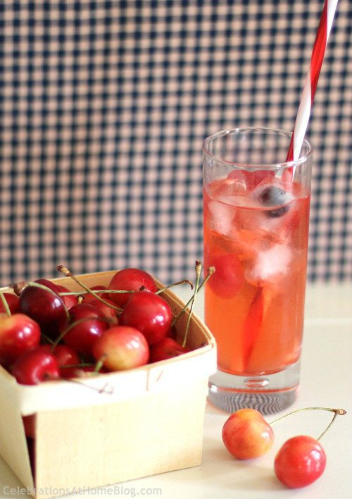 Cherry Almond Cocktail  1 1/2 oz vodka  1 to 1 1/2 oz Amaretto, according to your taste  3 oz Cherry soda {Cherry 7Up}  Combine ingredients and serve over ice.