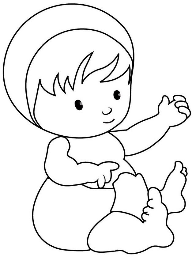 8 Best Adorable Baby Coloring Sheets Bebek