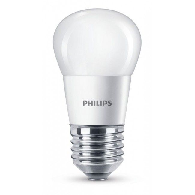 Philips LED P45 Leuchtmittel E27, 250lm, 4W, matt, ww