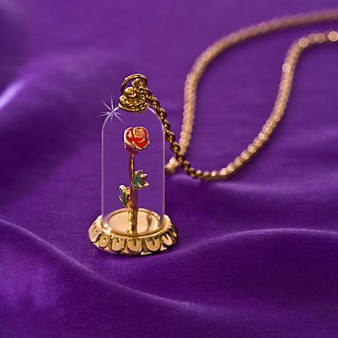 ''Enchanted Rose'' Beauty and the Beast Necklace by Disney Couture | Disney Store