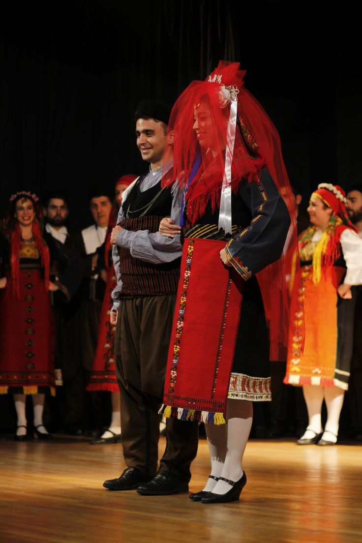 Traditional wedding costumes from Kavakli (Greek Thrace).