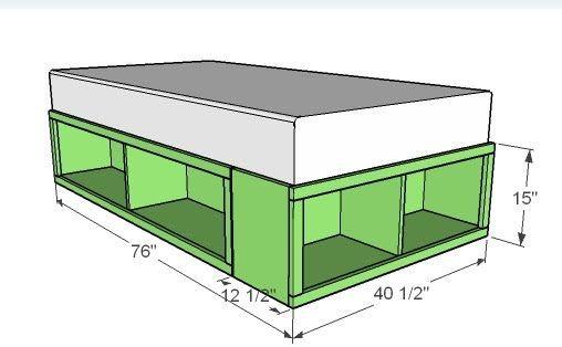 Best Diy Bed Frame Wood Storage Drawers Ana White Diy Bed 400 x 300