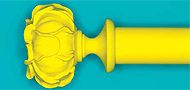 Byron & Byron 35mm, 45mm Neon Floral Curtain Pole Peony, Yellow