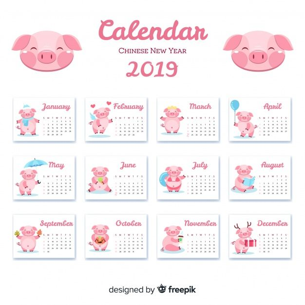 Download Chinese New Year 2019 Calendar For Free Chinese New