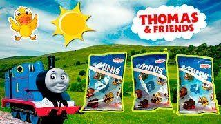 TREN THOMAS sobres sorpresa * Juguetes del tren THOMAS  ** JUEGA CON EL PATO * Juguetes, Play-Doh, Huevos Kinder Sorpresa - YouTube