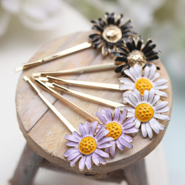 Korean fashion wholesale hair accessories hairpin small daisy flowers sunflower Side clamp Hairpin clip #Affiliate