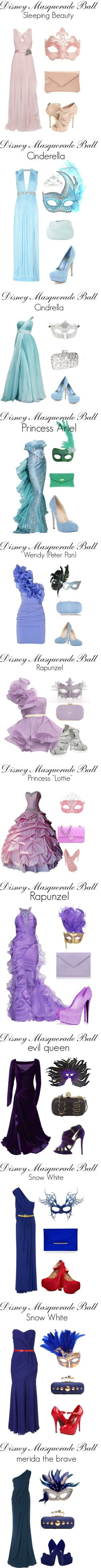 """Disney Masquerade Ball"" by offashionandbeauty ❤ liked on Polyvore"