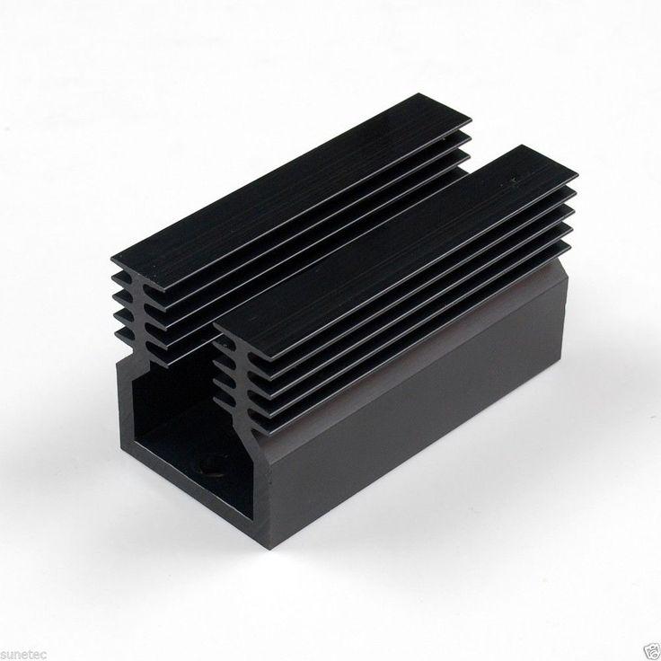 SS390  Aluminum Black Heatsink Heat Sink Audio Amplifier