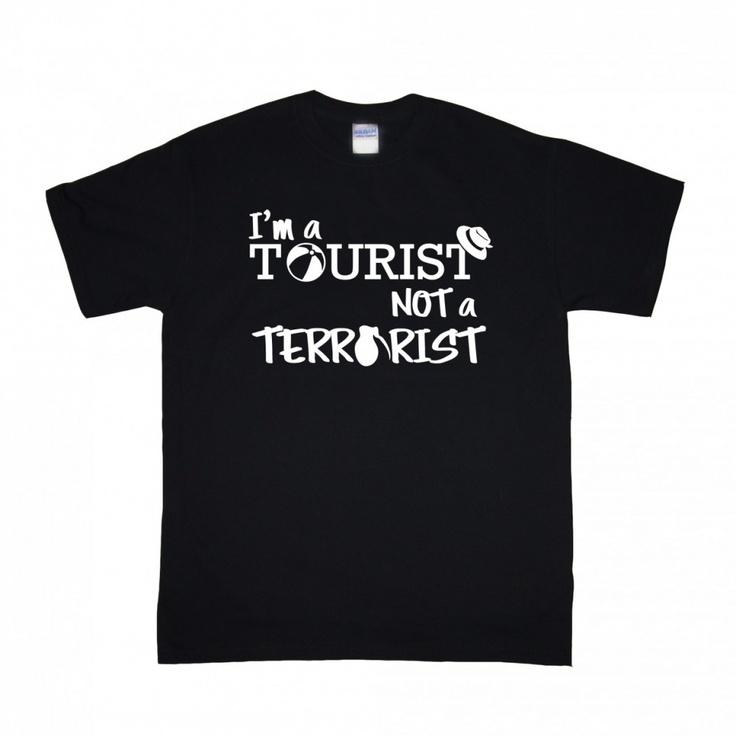 Design Molvi - I'm a Tourist NOT a Terrorist!,(http://www.designmolvi.com/im-a-tourist-not-a-terrorist/)
