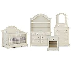 image of Bassettbaby® PREMIER Addison Nursery Furniture Collection in Pearl White