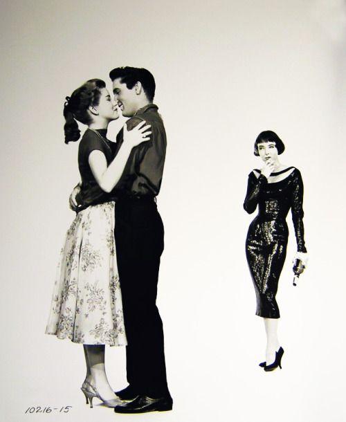 Dolores Hart,, Elvis Presley, Carolyn Jones, King Creole, 1958