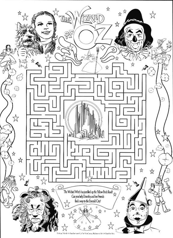 wizard of oz coloring pages printable