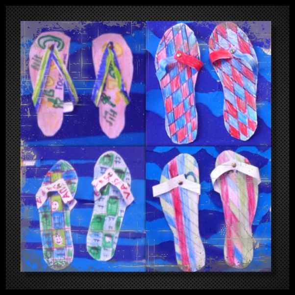 Hippe slippers groep 5