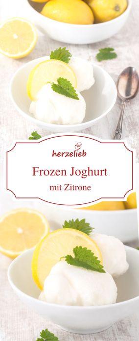 Ein Rezept für Frozen Joghurt - Eis einfach selbermachen! Kann mit Honig gesüßt werden! Geht schnell! Wer mag kann auch  Früchte wie Erdbeeren dazu geben. Sorbet, Eis.