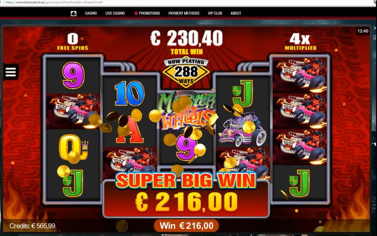 Meet Monster Wheels - a new slot by Microgaming on BOSS Casino website! The first thing you'll notice is the unusual reel. You can pick between 288 ways to win and 128 ways to win.  Become one of the first players to enjoy this new slot! Get your biggest online slot win