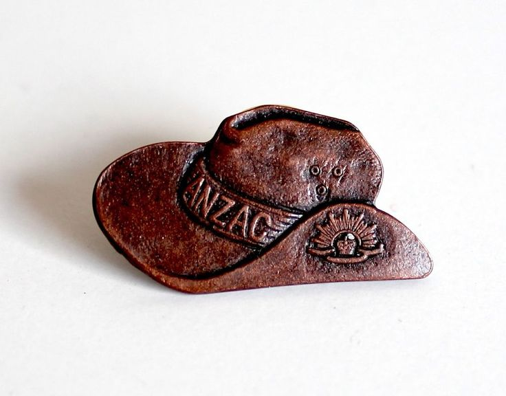 ANZAC Day Badge Slouch Hat Cash's Australia - Australian made Pin Lapel Brooch