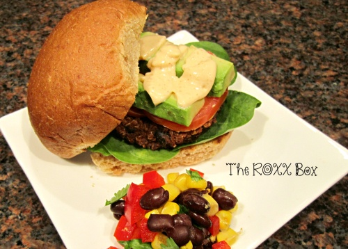 Black Bean and Quinoa Burger with Chipotle Mayo