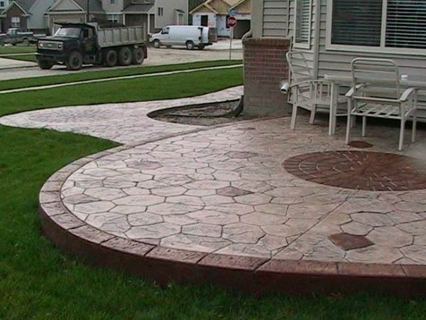 Stamped Concrete Bedrooms : Best concrete stamps patios outdoor decor images