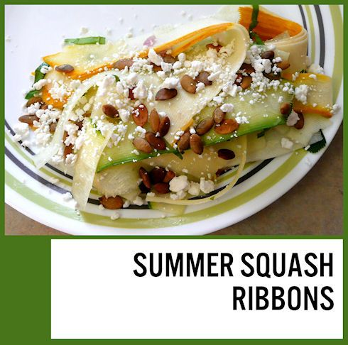 Summer Salad Recipe: Squash Ribbons | Summer Salad Recipes, Squashes ...