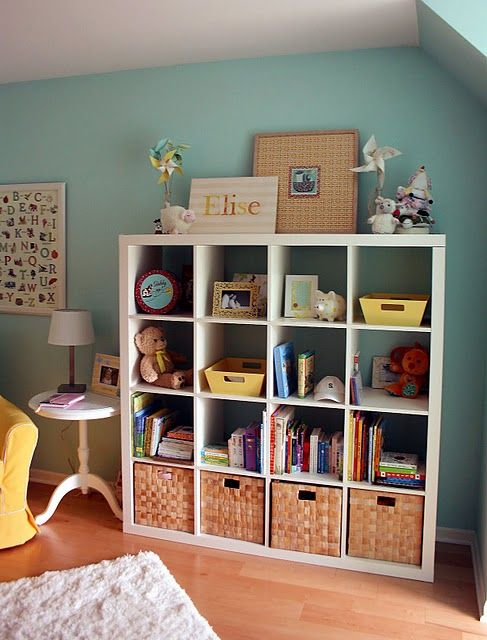 lovely storage (and color palette!)