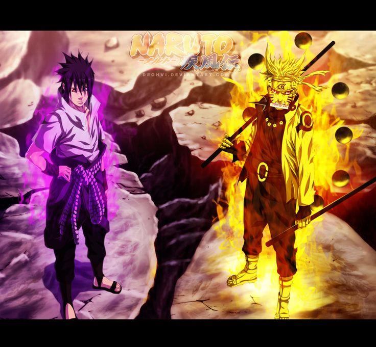 Naruto 673 The Final Fight Coloring by DEOHVI Sasuke