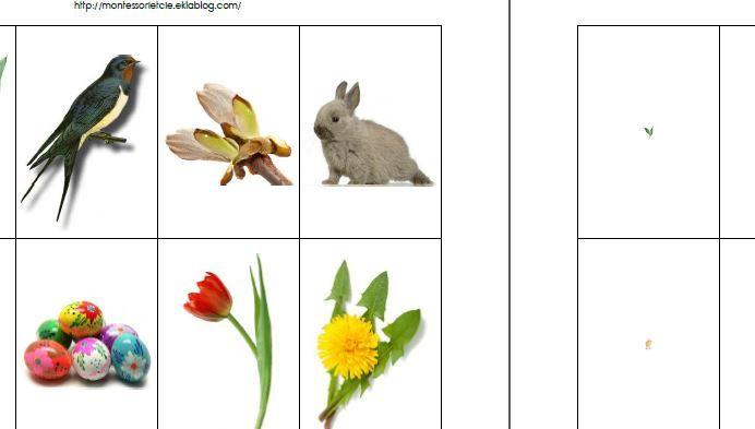Jeu de la loupe sur le printemps - Montessori EtCie