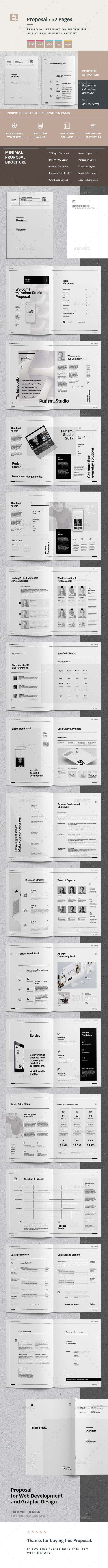 Proposal and Portfolio Brochure Template InDesign INDD - A4 and US Letter Size