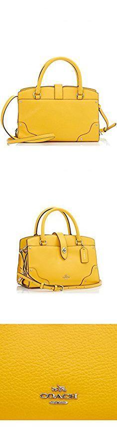Yellow Coach Purse. COACH Women's Grain Leather Mercer 24 Satchel Sv/Yellow Handbag.  #yellow #coach #purse #yellowcoach #coachpurse
