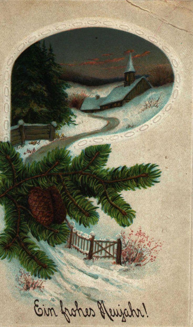 Сделать открытку, открытка новый год немецком