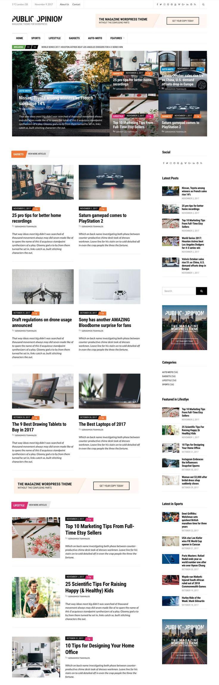 Public Opinion #wordpress  #theme  for #magazine  Portals