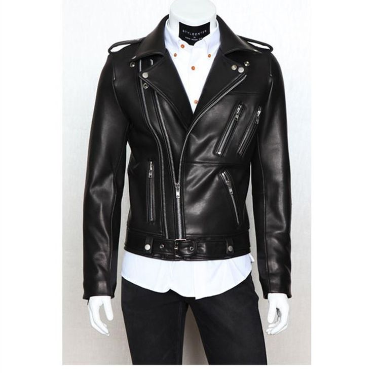 Jaqueta Couro Masculina New 2015 Foreign Trade Biker Jacket Mens Leather Jackets and Coats Locomotive Zipper Male Leather Jacket