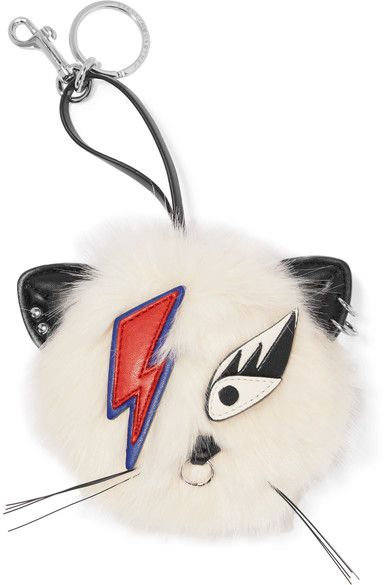 Stella McCartney 'Ziggy Stardust' Faux Fur Keychain. I need this in my life ❤