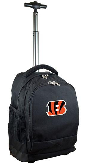NFL Premium Wheeled Backpack - Cincinnati Bengals: The NFL Premium Wheeled Backpack from Denco is… #Hotels #CheapHotels #CheapHotel