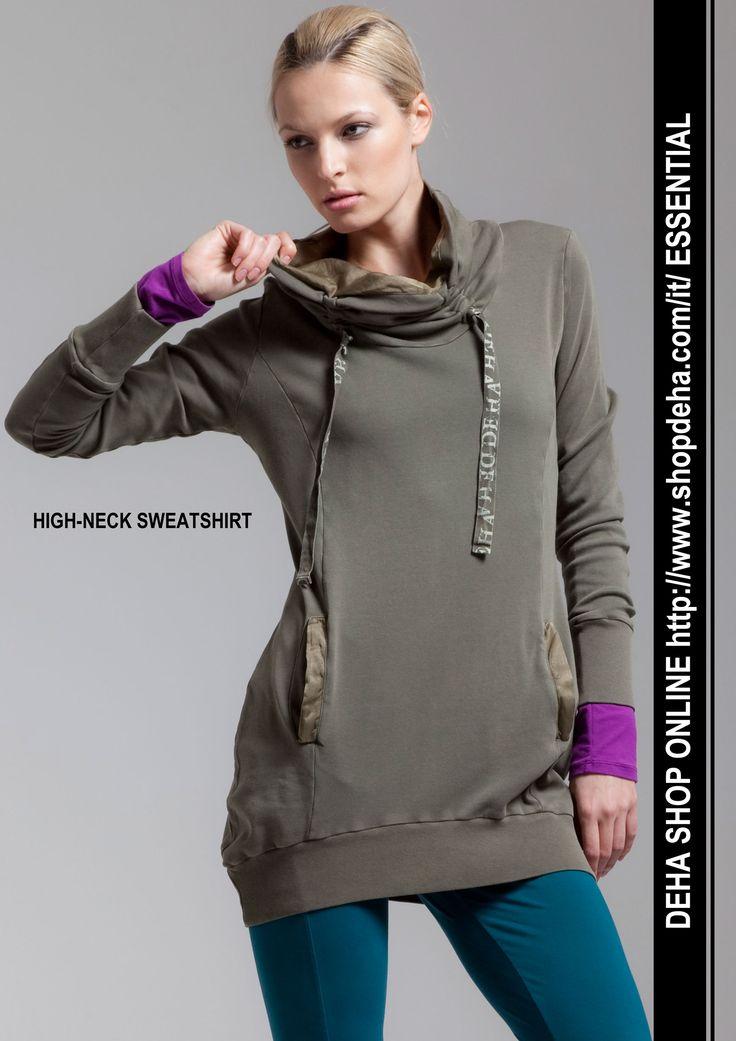 Per il vostro shopping online #DEHA #SWEATSHIRT http://www.shopdeha.com/it/ http://www.shopdeha.com/it/essential/157-felpa-collo-alto.html
