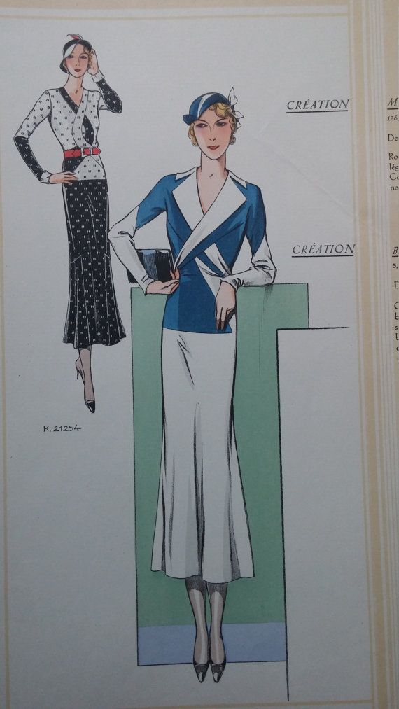 1930's Paris Chic Fashion Illustration By by YourInvisibleHands