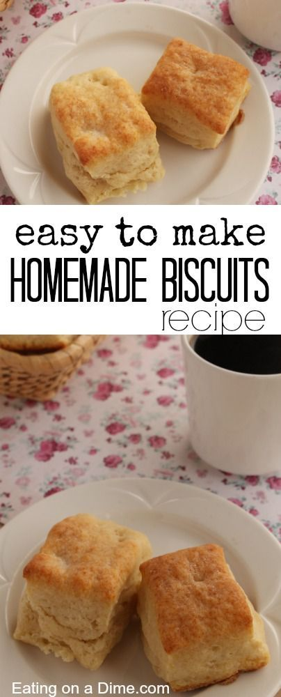 How to make Homemade biscuits that taste amazing! You can make these delicious homemade biscuits for a fraction of store bought biscuits. My family loves them.