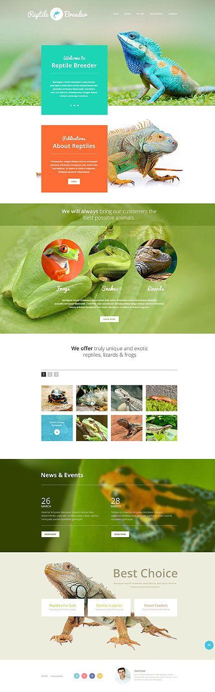 #Website Vorlage für #Reptilienzüchter