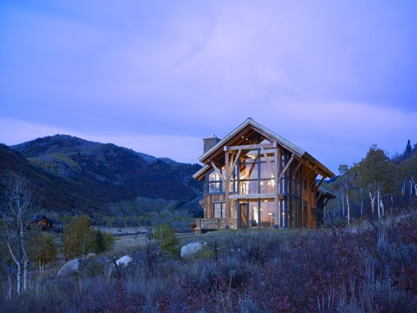 A 4,000 square foot eco-friendly home in Steamboat Springs, Colorado. Design build company Gerber Berend in collaboration with architect Robert Hawkins.