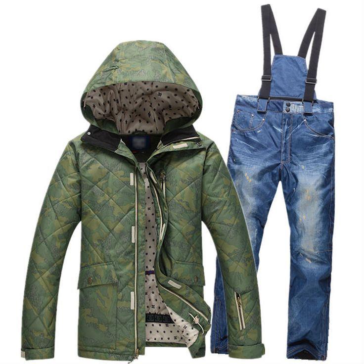 2017 new Sale Real Men Winter Snowboarding Men's Windproof Ski Jackets+warm Pants Mens Breathable Skiing Jackets Clothes Hooded