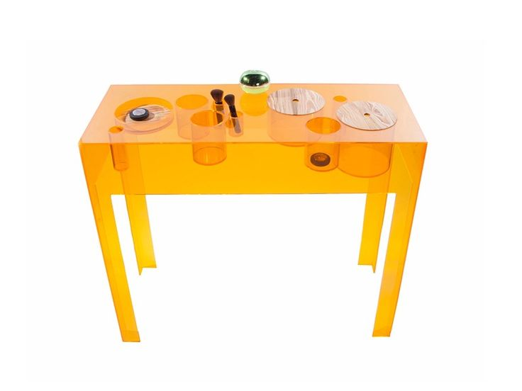 Rectangular Acrylic Console Table BUBBLES   Natalia Geci