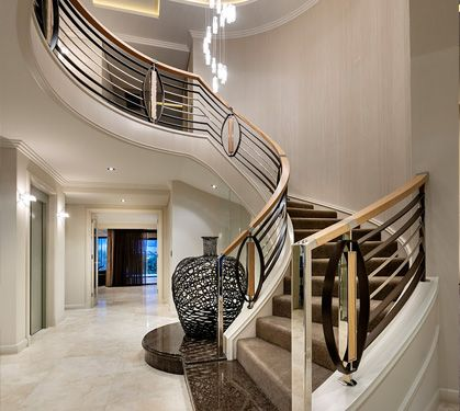 Custom Luxury Home Builders Custom Project 7 Grandwood Entrances Staircases Pinterest