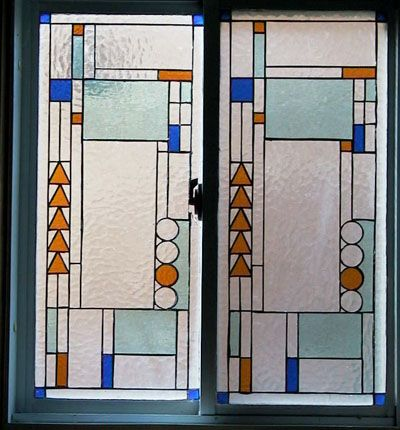 Frank Lloyd Wright Designs Stained Glass Window With A
