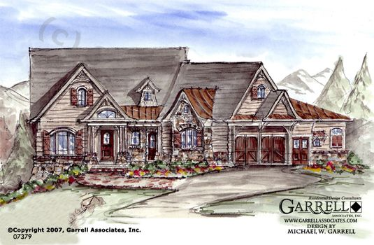 Stone gap cottage house plan house plans by garrell for Garrell and associates house plans