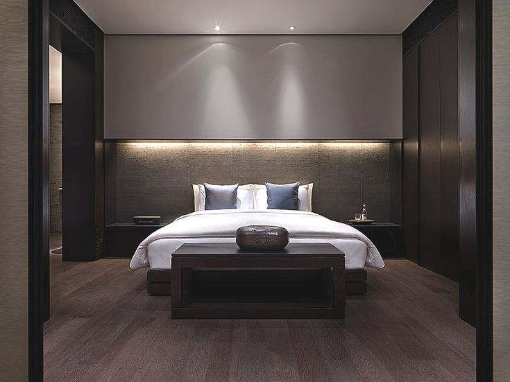 the luxurious puli hotel and spa shanghai - Bedroom Hotel Design