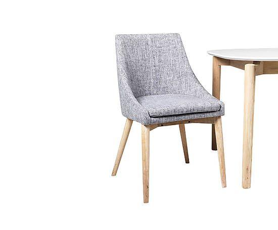 chaise rembourr e donna bois de ch ne gris et naturel l59 deco pinterest. Black Bedroom Furniture Sets. Home Design Ideas